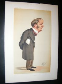 Vanity Fair Print 1874 Charles Forster, Ape Lithograph